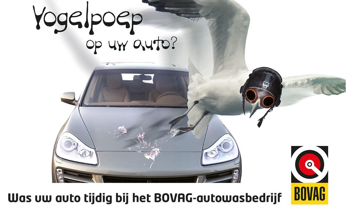 Vogelpoep op de auto